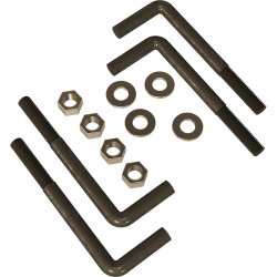 "5/8"" L-Bolt Mounting Kit - perspective view"