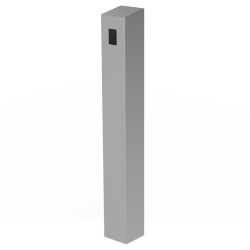 "47"" Stainless Tower, Architectural (6"" square) - perspective view"